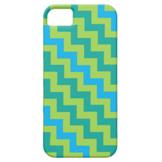 iPhone 5/5s Case: Blue Moons Diagonal Chevrons Case For The iPhone 5