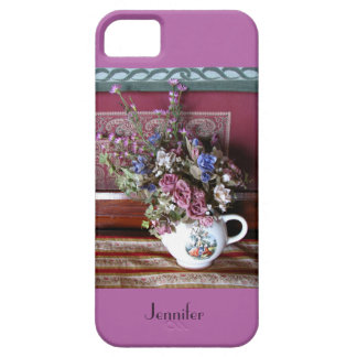 iPhone 5/5s Case Teapot, Flowers, Radiant Orchid