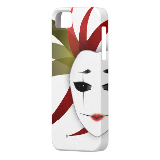 iPhone 5/5S cover with Lady Joker's Mask