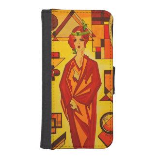 Iphone 5/5s Flip case/wallet Art Deco