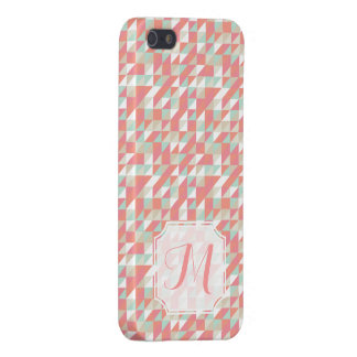Iphone 5 5s Matte Triangle Aztec Pattern Monogram iPhone 5 Cases