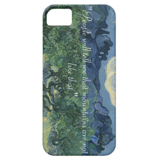 iPhone 5/5S, Van Gogh Olive trees & Quote Case For The iPhone 5