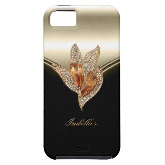 iPhone 5 Black Elegant Caramel Beige Gold Amber iPhone 5 Cover
