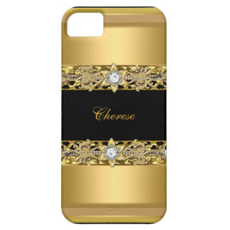 iPhone 5 Black Floral Gold iPhone 5 Cases