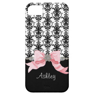 IPhone 5 Bow Floral Leaf Damask Ribbon Jewels Name iPhone 5 Cases