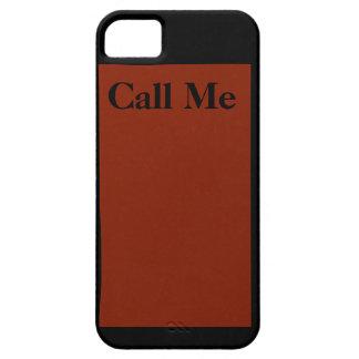 """iPhone 5 Case - """"Call Me"""" - Orange and Black"""