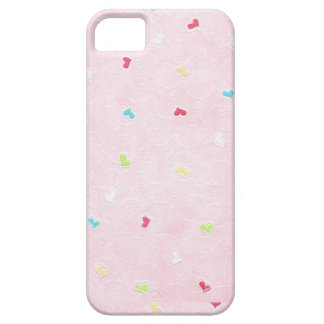 IPhone 5 Case Cover Pink with Mini Hearts