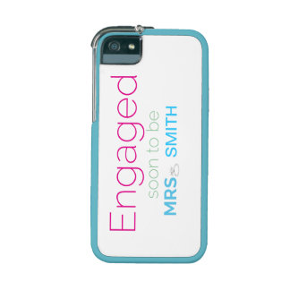 """iPhone 5 Case """"Engaged Soon To Be Mrs. Smith"""
