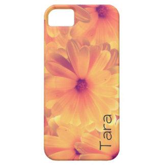iPhone 5 Case Optional Custom Name Yellow Flower