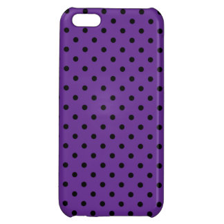 iPhone 5 Case Savvy Black and Purple Polka Dot