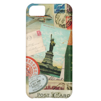 iPhone 5 case-Vintage Travel and Stamps