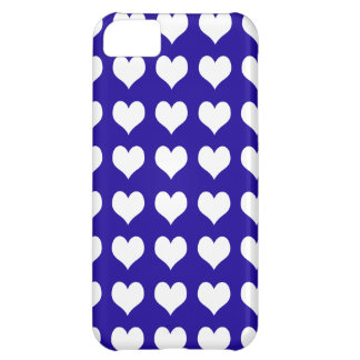 iPhone 5 Custom Case-Mate Blue with Hearts iPhone 5C Cover
