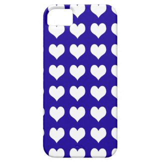 iPhone 5 Custom Case-Mate Blue with Hearts iPhone 5 Cases