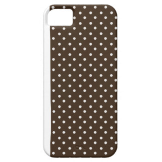 iPhone 5 Custom Case-Mate Brown with Dots iPhone 5 Case