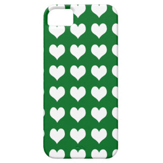 iPhone 5 Custom Case-Mate Green with Hearts iPhone 5 Covers