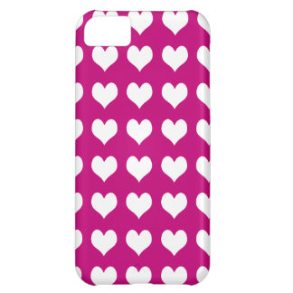 iPhone 5 Custom Case-Mate Pink with Hearts iPhone 5C Covers