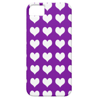 iPhone 5 Custom Case-Mate Purple with Hearts iPhone 5 Cases
