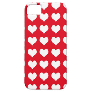 iPhone 5 Custom Case-Mate Red with Hearts iPhone 5 Case