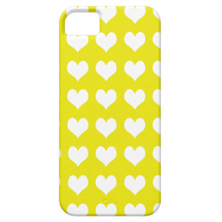 iPhone 5 Custom Case-Mate Yellow with Hearts iPhone 5 Case