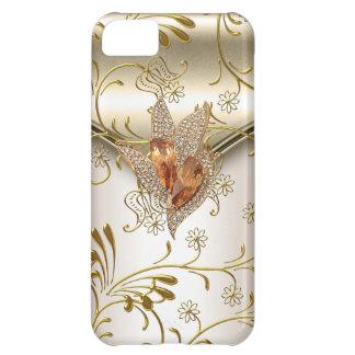 iPhone 5 Damask Caramel Cream Beige Gold Amber iPhone 5C Case