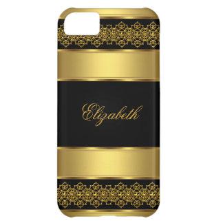 iPhone 5 Elegant Classy Gold Black iPhone 5C Case
