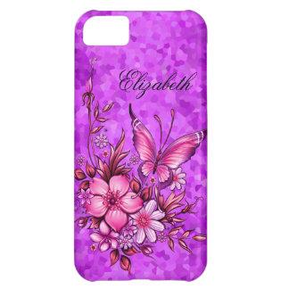 iPhone 5 Elegant Classy Pretty Purple Floral iPhone 5C Case