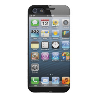 Iphone 5 fake Home screen Case . iPhone 5 Case