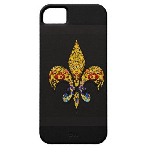Iphone 5 Fleur-de-Lis customize iPhone 5 Cases