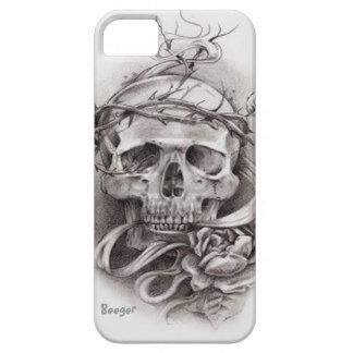 Iphone 5 ID - Skull with Crown of Thorns iPhone 5 Covers