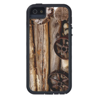 iPhone 5 / iPhone 5s Case Log Cabin & Wagon Wheels