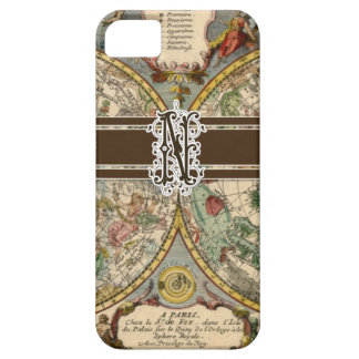 IPhone 5 Letter N Monogrammed Vintage Nautical Map Case For The iPhone 5