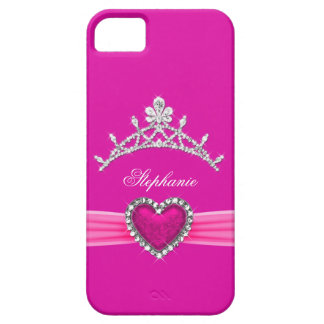 iPhone 5 Princess Silver Tiara Hot Pink Bejeweled iPhone 5 Cover