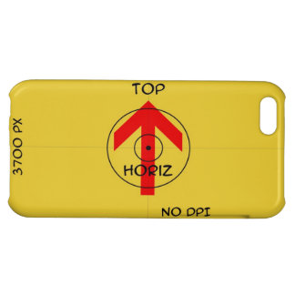 Iphone 5 - shiny -  horiz template cover for iPhone 5C