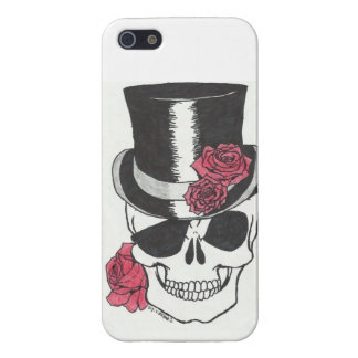 iphone 5 skull with roses case iPhone 5/5S covers