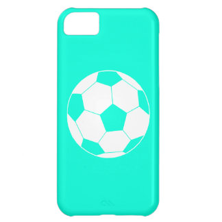 iPhone 5 Soccer Ball Silhouette Turquoise iPhone 5C Case