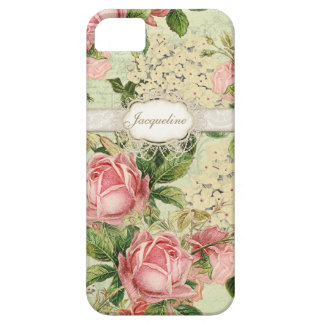 IPhone 5 - Vintage English Rose Lace n Hydrangea Barely There iPhone 5 Case