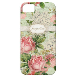 IPhone 5 - Vintage English Rose Lace n Hydrangea Case For The iPhone 5