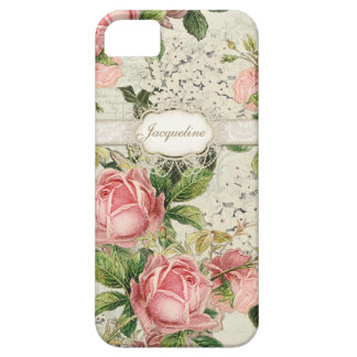 IPhone 5 - Vintage English Rose Lace n Hydrangea iPhone 5 Case
