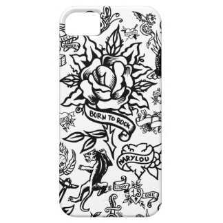 iphone 5 white and black Tattoo case