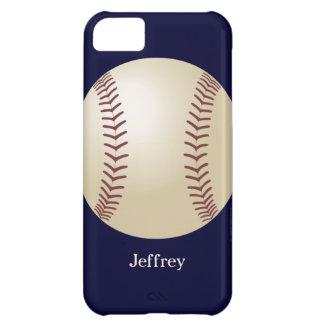 iPhone 5c Case, Baseball, Blue, Personalized iPhone 5C Case