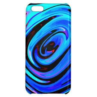 "iPhone 5C Case Glossy Finish ""Feeling Blue"""