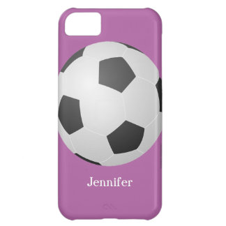 iPhone 5c Case, Soccer Ball, Purple, Personalized iPhone 5C Case