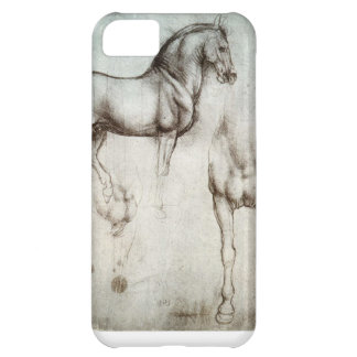 iPhone 5C case with fine art horse drawing