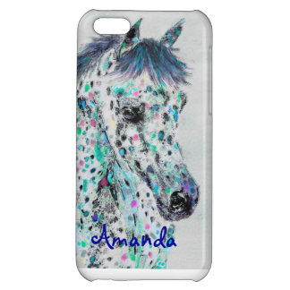 iphone 5C leoplard appalossa horse phone case