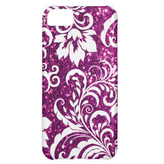 iPhone 5C Purple Glitter Case