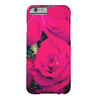 iPhone 6/6s Barely There case. Bright pink roses Barely There iPhone 6 Case