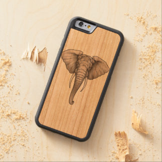 iPhone 6/6s Bumper Cherry Wood Case Elephant