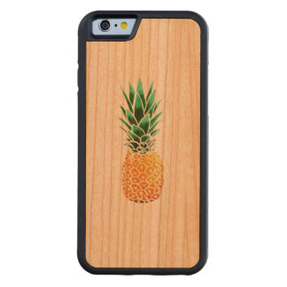 iPhone 6/6s Bumper Cherry Wood Case Pineapple