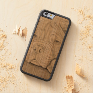 iPhone 6/6s Bumper Cherry Wood Case Pug
