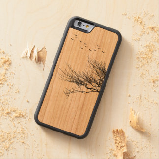 iPhone 6/6s Bumper Cherry Wood Case Silhouette